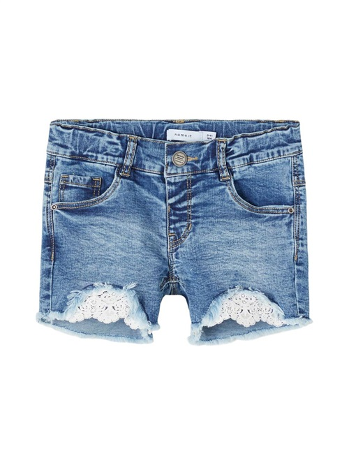JEAN SHORTS WITH LACE NAME IT