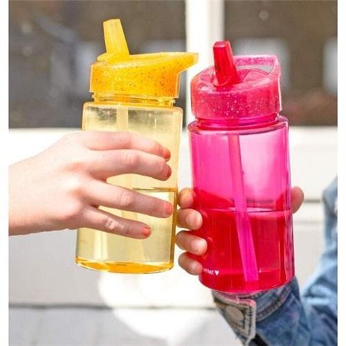 DRINKING BOTTLE GLITTER PINK A LITTLE LOVELY COMPANY