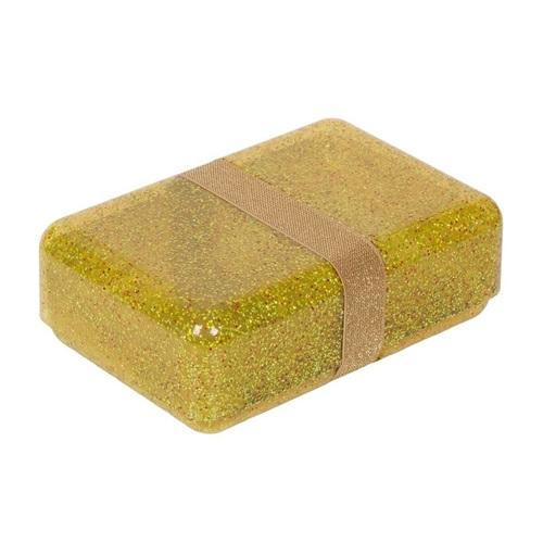 LUNCH BOX GLITTER GOLD A LITTLE LOVELY COMPANY