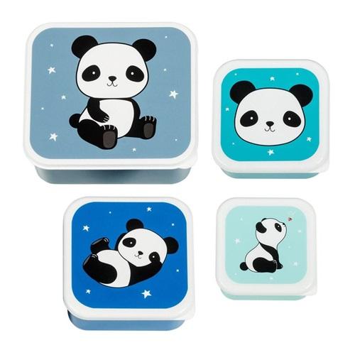 "LUNCH BOX SET ""PANDA"" A LITTLE LOVELY COMPANY"