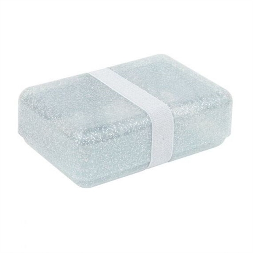LUNCH BOX GLITTER SILVER A LITTLE LOVELY COMPANY