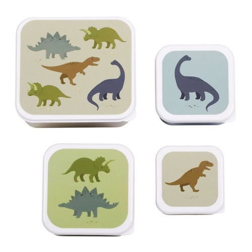 """LUNCH BOX SET """"DINOSAURS"""" A LITTLE LOVELY COMPANY"""