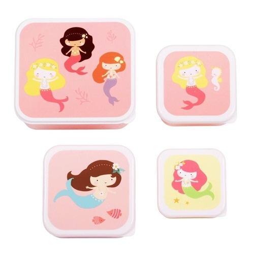 """LUNCH BOX SET """"MERMAIDS"""" A LITTLE LOVELY COMPANY"""
