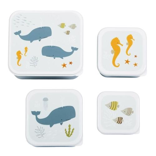 "LUNCH BOX SET ""OCEAN"" A LITTLE LOVELY COMPANY"