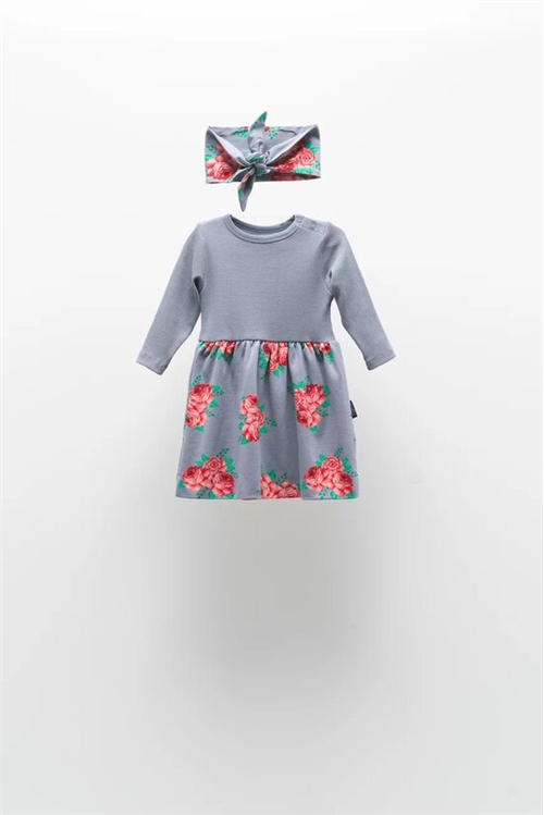 DRESS WITH BOW SET