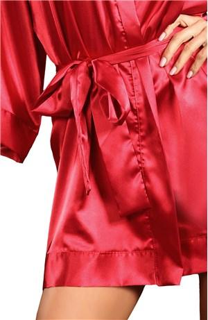 Σατέν ρόμπα maggie red