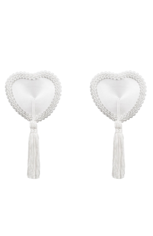 Tassel nipple covers white