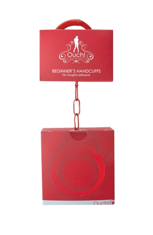 METAL BEGINNER'S HANDCUFFS RED