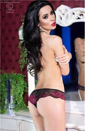 Sexy Open Brazil Mαύρο/ Ροζ