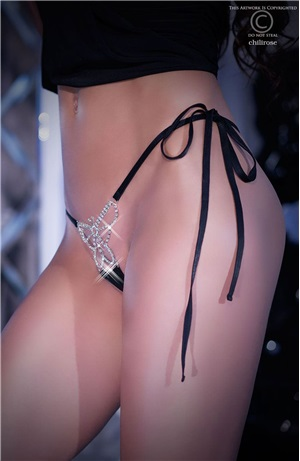 String πεταλούδα στρας