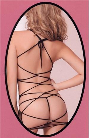 Dress δίχτυ ανοιχτή πλάτη
