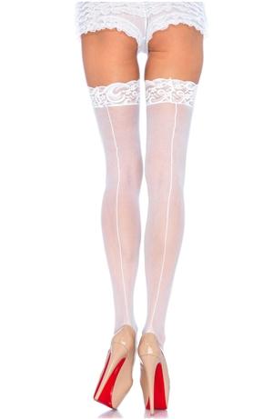 Λευκές Κάλτσες Με Ραφή