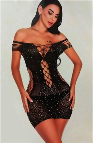 Ελαστικό φόρεμα στρας