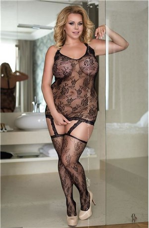 Hot Plus Size Bodystocking