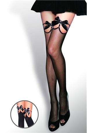 Κάλτσες δίχτυ φιόγκο