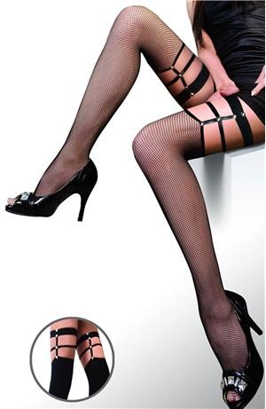 Κάλτσες δίχτυ λουριά