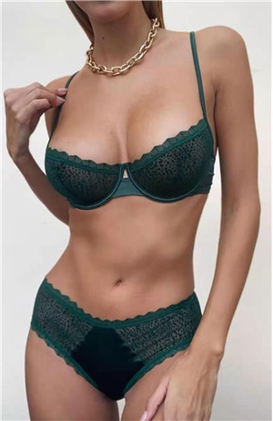 Set satin leopar lace