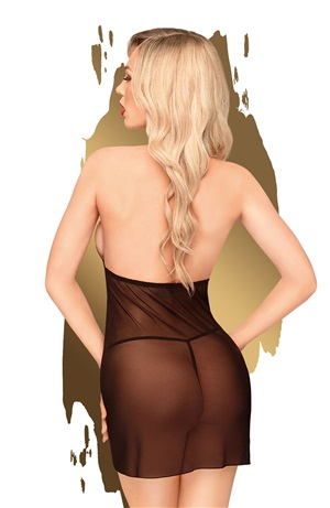 BEDTIME STORY BABYDOLL AND THONG BLACK