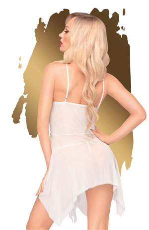 SWEET BEAST BABYDOLL AND THONG WHITE