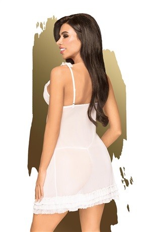 PENTHOUSE AFTER SUNSET BABYDOLL AND THONG WHITE