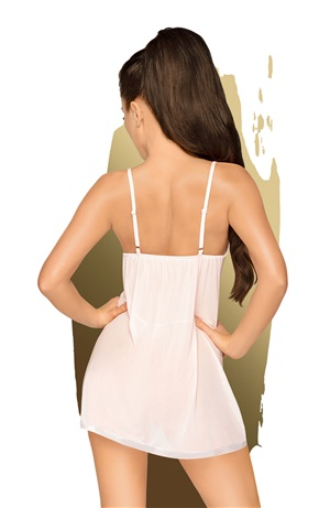 PENTHOUSE CASUAL SEDUCTION CHEMISE AND THONG WHITE