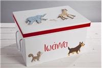 "BAPTISM BOX ""ANIMALS"""